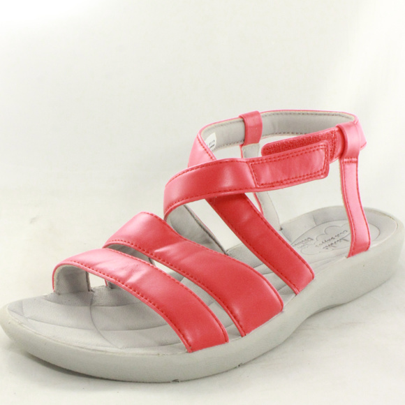 68f64a1781e CLARKS Red Sillian Spade Strappy Gladiator Sandals
